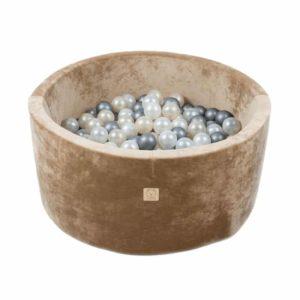 Piscine à balles ronde Velours Beige - VELVET Misioo