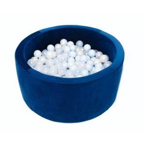 Piscine à balles ronde Velours Navy Blue - VELVET Misioo