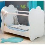 lit bébé plexiglas altea blanc 120 x 60 cm