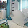 Chambre Complete Altea Avec Lit Bebe Plexiglas Transprent Blanc Majoliechambre
