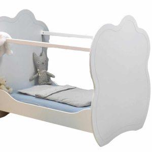 Lit Bebe Plexiglas Altea Blanc Fond Transparent Majoliechambre