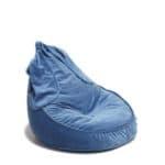 Pouf Velours Oreilles Lapin Bleu