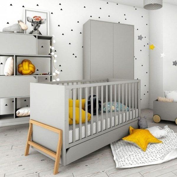 lit bébé évolutif zanzibar gris 70 x 140 cm