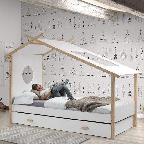 lit cabane enfant en bois massif yosemite