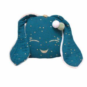 Doudou Mini Lapichou Bleu Pétrole