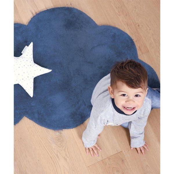 tapis enfant nuage bleu marine lilipinso (4)