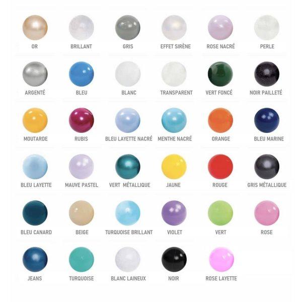 couleurs balles misioo