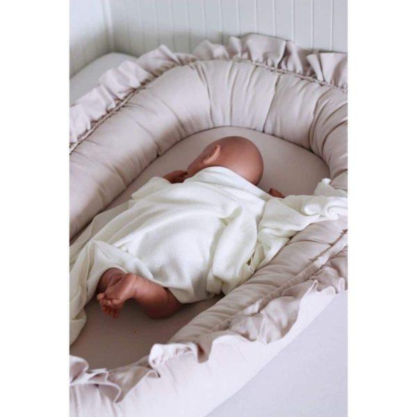 réducteur de lit simply glamour à volants rose poudré (3)