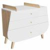 Commode en bois 3 tiroirs & Plan à langer Trapeze