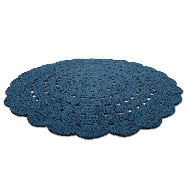 tapis bébé cototn bleu