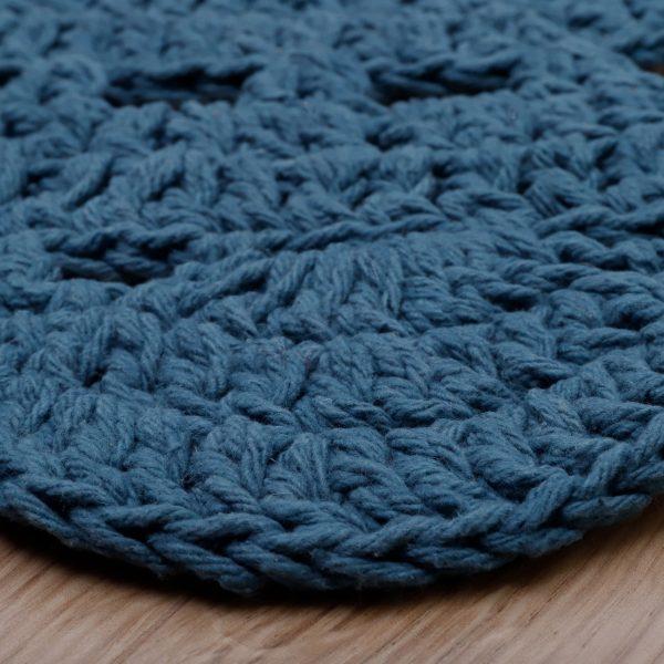 tapis bébé coton bleu
