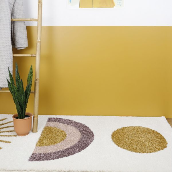 Tapis chambre enfant rectangulaire sunshine nattiot