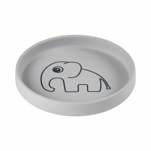 assiette silicone elphee gris done by deer