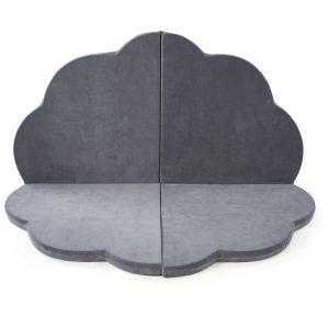 tapis de jeu nuage velours gris