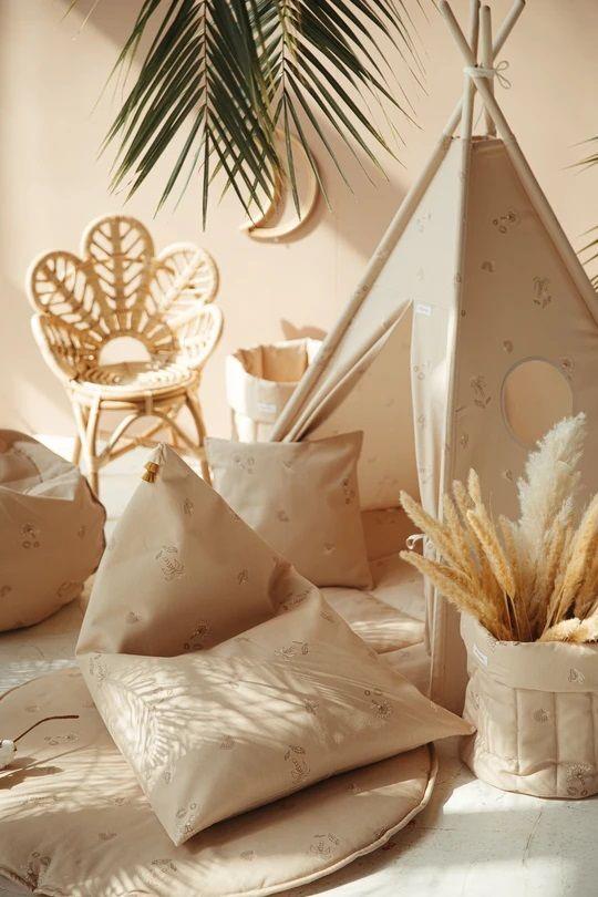 pouf tropical dream beige poudré