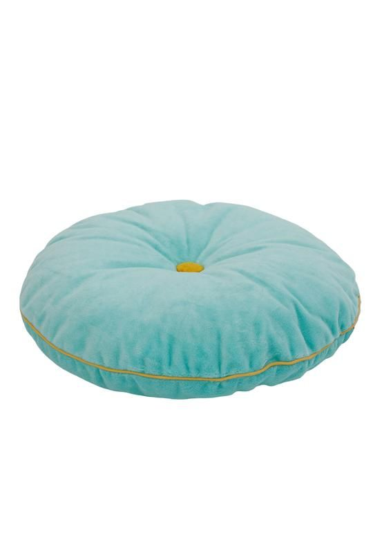 coussin rond velours menthe