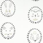papier peint chambre bébé portraits d'animaux