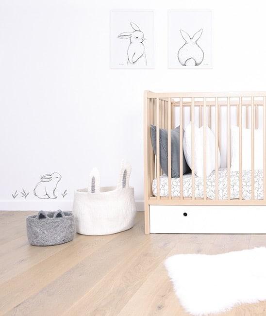 chambre bébé sticker lapin lilipinso