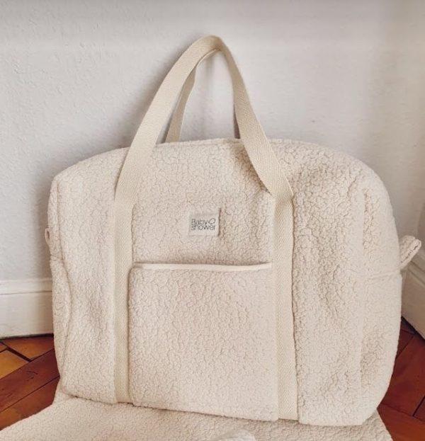 sac mouton écru