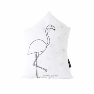 Coussin musical flamant rose
