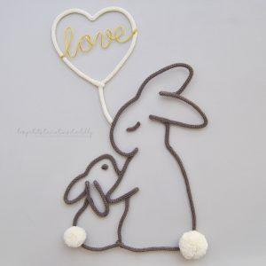 Déco murale lapins calins
