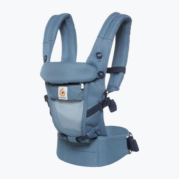 Porte-Bébé physiologique Cool Air Mesh - ERGOBABY Gris bleu
