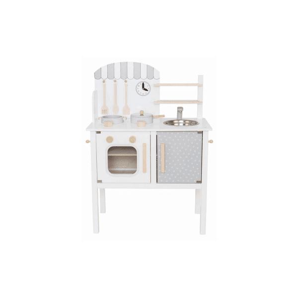 cuisine pour enfants bois gris et blanc
