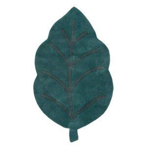 Tapis bébé en forme de feuille vert