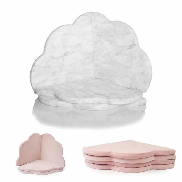 tapis de jeu enfant nuage marbre