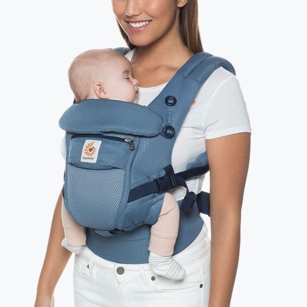 porte bébé ergobaby bleu gris