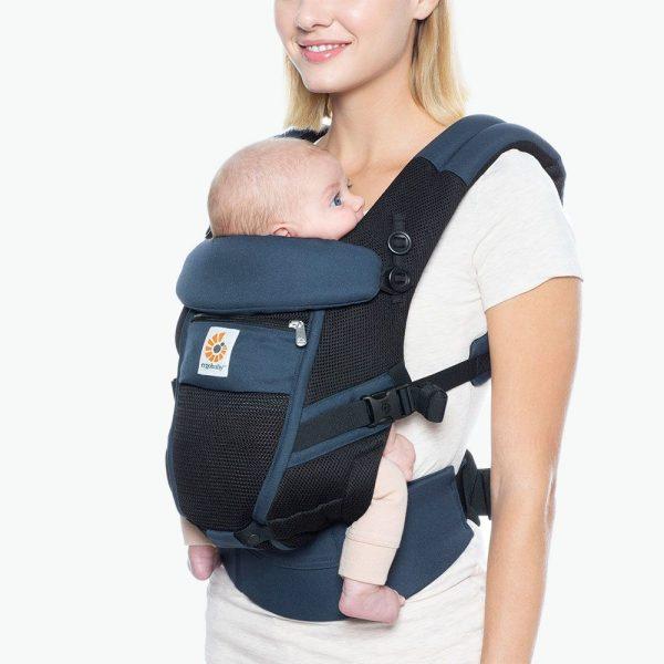 porte bébé ergobaby bleu noir