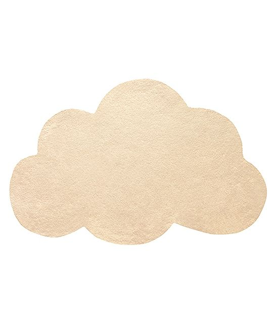 tapis enfant nuage orange pastel