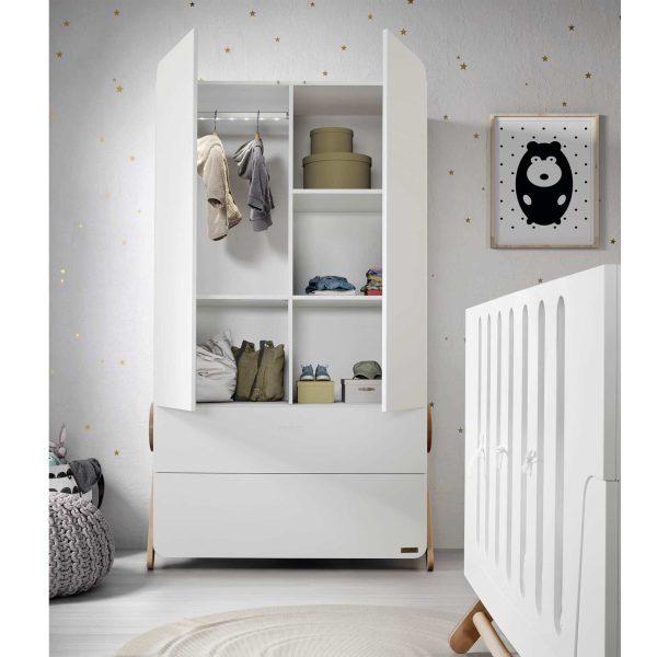 Armoire chambre bébé bois blanc