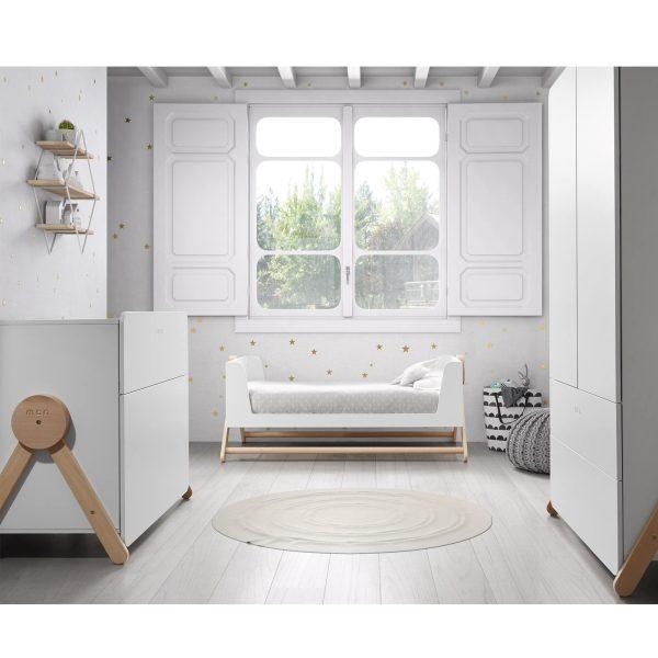 chambre bébé bois blanc