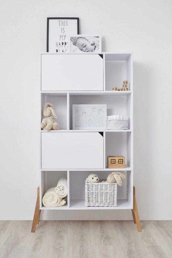 Bibliothèque blanc chambre enfant