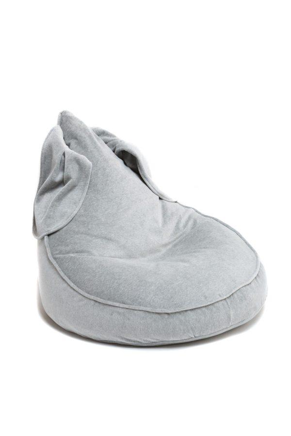 pouf oreilles de lapin gris