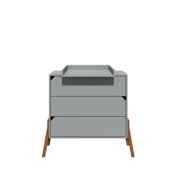 commode table à langer bois gris