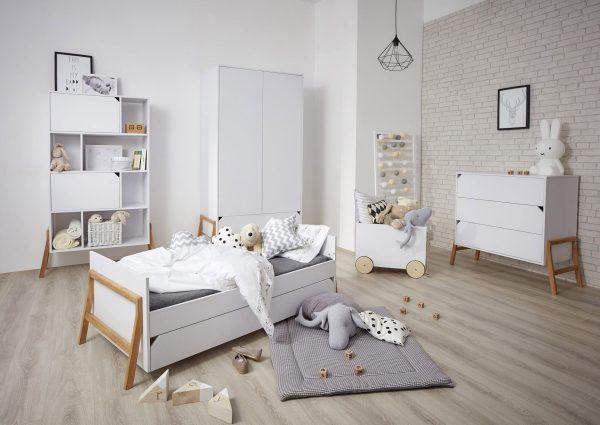 mobilier chambre enfant coloris blanc