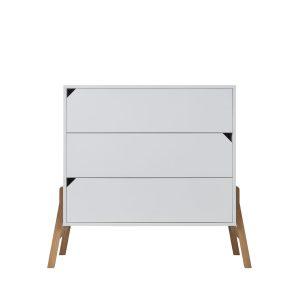 commode 3 tirois chambre enfant coloris blanc
