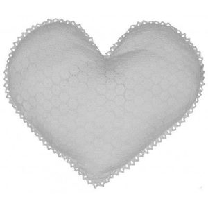 coussin coeur crochet dentelle