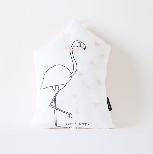 coussin musical mon flamant rose