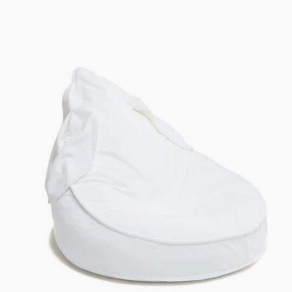 Pouf lapin bébé velours blanc