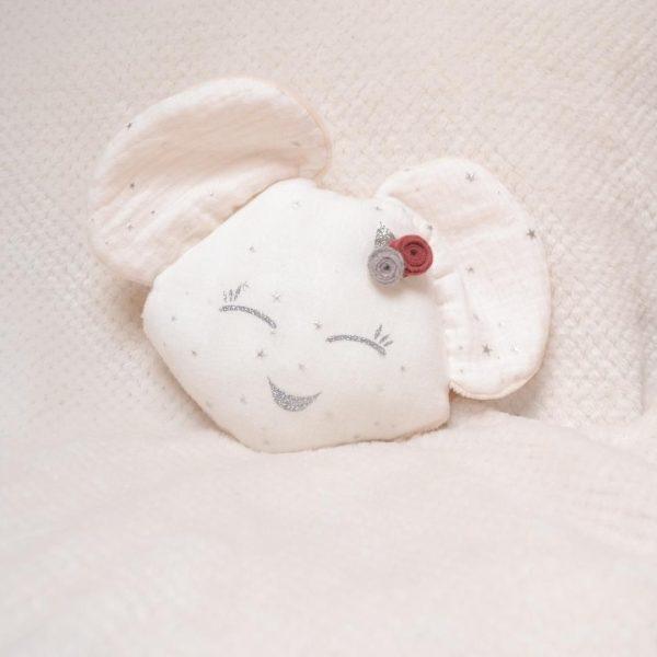 doudou souris blanc