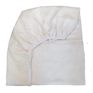 drap housse mousseline de coton blanc