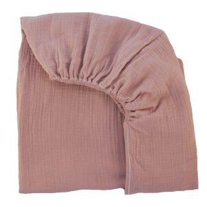 drap housse mousseline de coton vx rose