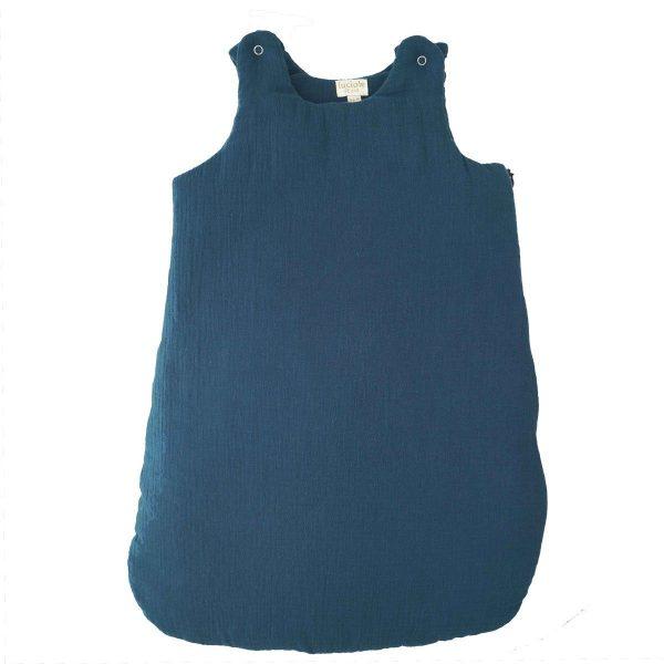 gigoteuse mousseline de coton bleu