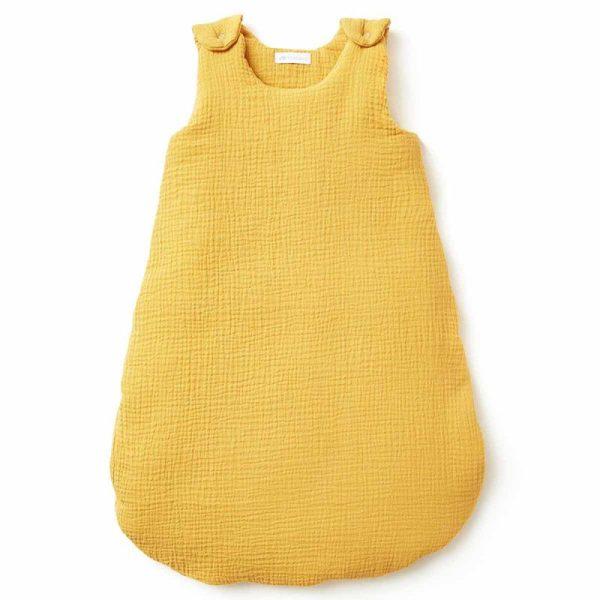 gigoteuse gaze de coton moutarde