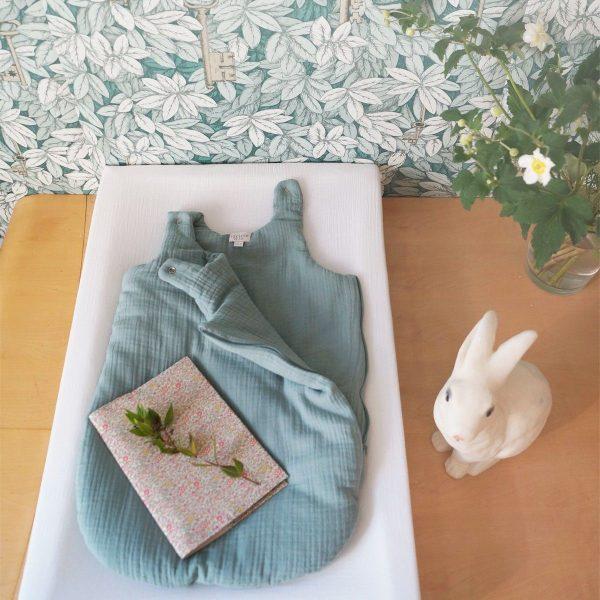 gigoteuse mousseline de coton vert