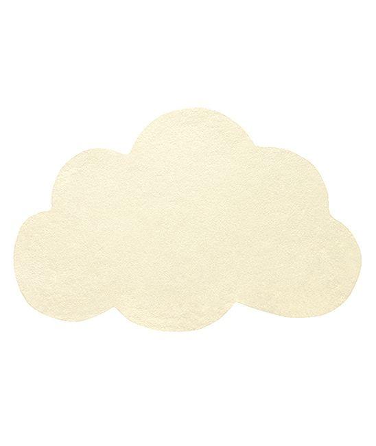 tapis enfant nuage jaune pastel