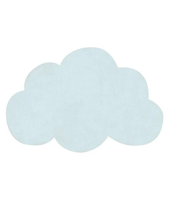 tapis enfant nuage bleu turquoise